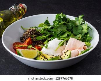 sous-vide chicken breast  with Quinoa