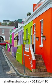 South Africa, 18/09/2009: view of Bo-Kaap, the muslim quarter of Cape Town, formerly known as the Malay Quarter,  known for its brightly colorful houses and cobble stoned streets