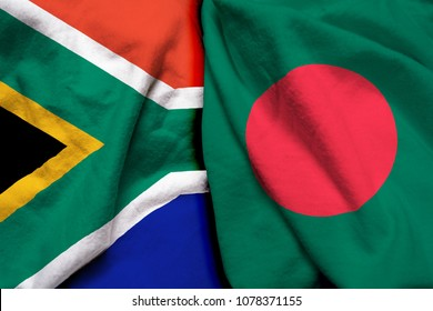 South Africa and Bangladesh flag together