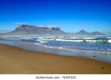 South Africa Cape town table mountain beach view
