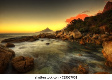 South Africa Capetown Beach Sunset