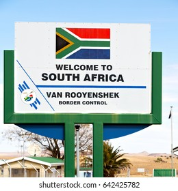 in south africa control border signal welcome concept and sky