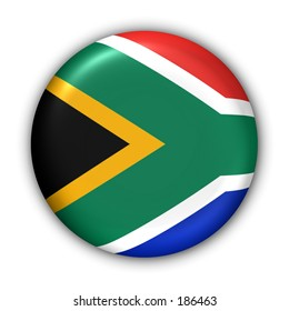 South Africa Flag Button