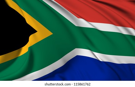South Africa flag HI-RES collection