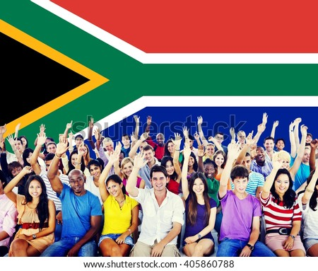 south africa flag patriotism south african の写真素材 今すぐ編集