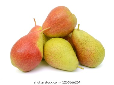 south africa forelle pears isolated on white background