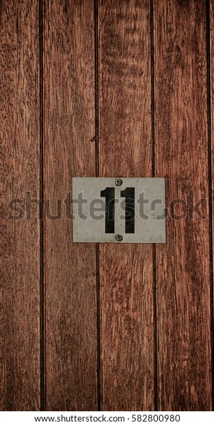 in south africa number plate and wood  like background empty space