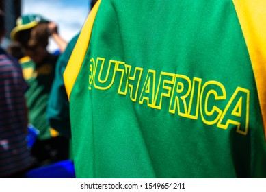 South Africa on back of cricket jersey