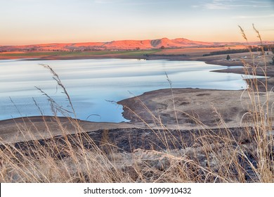 South africa   pond lake  isimagaliso nature  reserve and bush