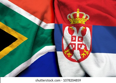South Africa and Serbia flag together