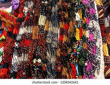 South Africa, Zulu beads are traditionally worn, often used as symbols or love letters