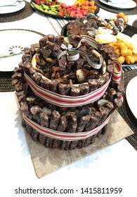 South african biltong and dried wors cake
