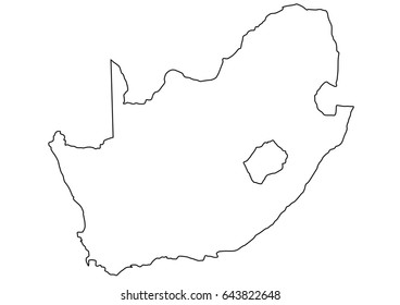 South African border illustration clear