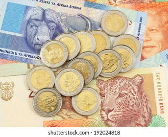 South African coins and notes - rands