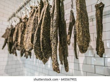 South African dried meat or biltong