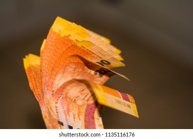 South African Money, Bank notes with Nelson Mandela face