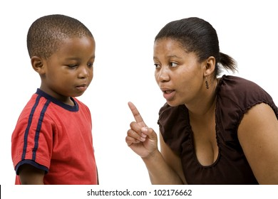 South African Mother rebuking her child sternly