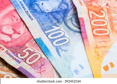 South African rand currency