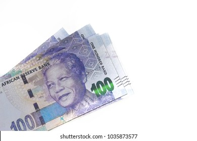 South African Rands Banknotes isolated on White Background