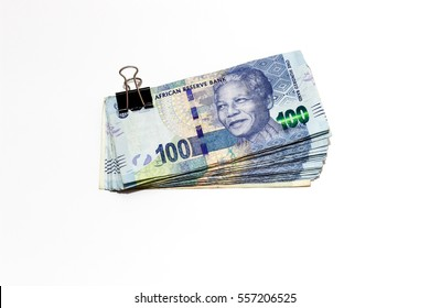 South african rands isolated on white background