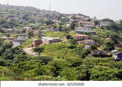 South African township in the rural farm lands - Kwazulu Natal #5
