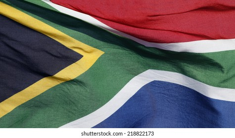 South Africa's flag in it's rainbow colors.