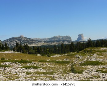 South Alps landscape: Mont Aiguille, Vercors