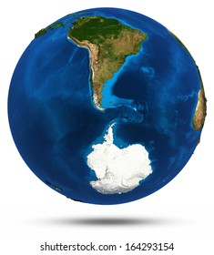South America 3d isolated. Elements of this image furnished by NASA
