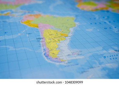 South America on the map