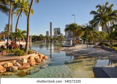 South bank artificial beach