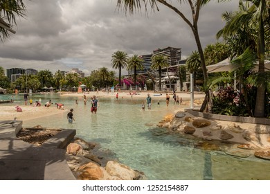 SOUTH BANK, BRISBANE,QLD, AUSTRALIA -19th OCTOBER 2018:-South bank was redeveloped for the 1988 world expo, it is a mecca for locals and tourists alike.