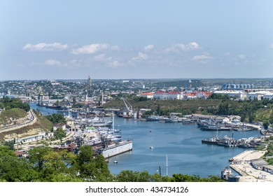South bay of Sevastopol, Crimea, Russia, 10/06/2015