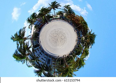 South Beach in Miami, Florid Tiny Planet Orb Ball