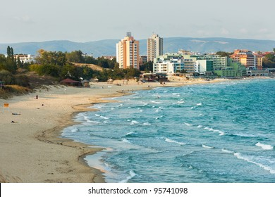 The South beach of Nessebar Black sea resort Bulgaria