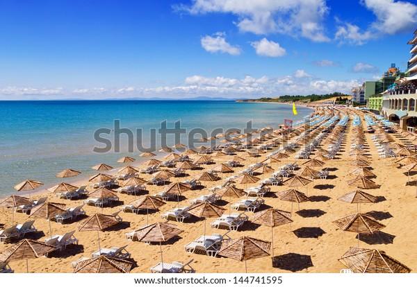 South Beach von Nessebar im Sommer