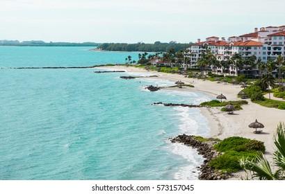 South Beach Skyline/ Miami, Florida. Vacation Fisher Island, 2017.