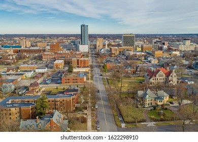 South Bend Indiana Aerial View Looking East.
