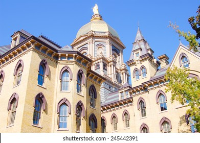 South Bend, Indiana - October 11, 2008:  The golden dome building on the University of Notre Dame campus