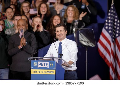 South Bend's Mayor Pete Buttigieg speaks during a rally to announce his 2020 Democratic presidential candidacy in South Bend, Indiana, U.S., April 14, 2019.