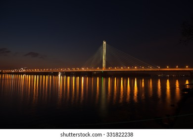 South Bridge Kiev night
