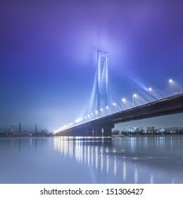 South bridge in winter. Ukraine. Kiev.