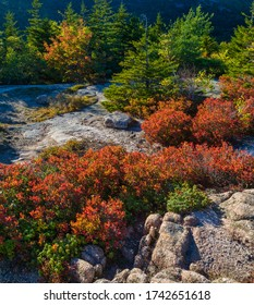 South Bubble Trail in Acadia National Park on Mouint Desert Island, Maine