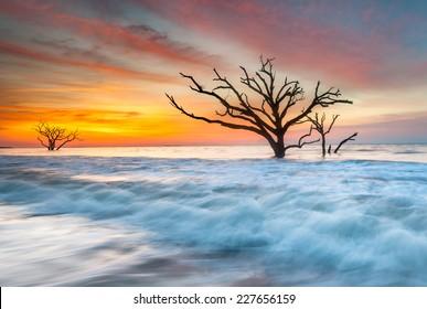 South Carolina Edisto Island Coastal Sunrise Atlantic Ocean