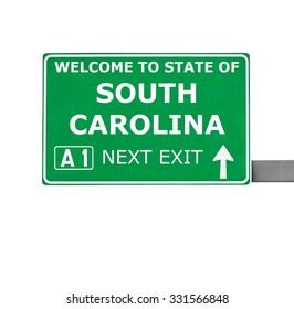 SOUTH CAROLINA road sign isolated on white