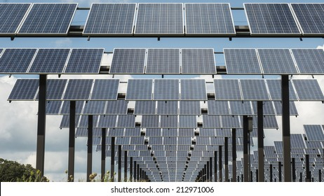 South Central Wisconsin - August 19, 2014  Close up of Solar Panels from below