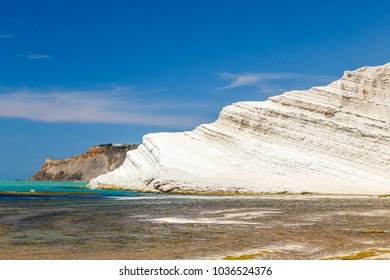 south coast with Scala dei Turchi, Sicily, Italy