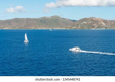 South coast of Tortola and Beef Island, British Virgin Islands