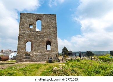 South Condurrow Stamps Engine House, on the King Edward Mine Museum site at Camborne, Cornwall, UK, was built in 1869 and drove 48 heads of stamps which broke up the ore for dressing.