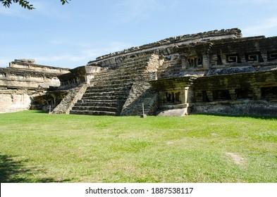 South corner of the Arroyo Group in Tajín archaeological area - Shutterstock ID 1887538117