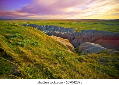 South Dakota Landscape. South Dakota, USA. Prairies and Badlands. Pine Ridge Indian Reservations. Nature Photo Collection.